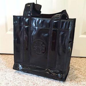 🖤 Beautiful black Tory Burch patent leather tote